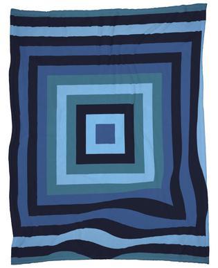 Blue Ripple Fleece Blanket