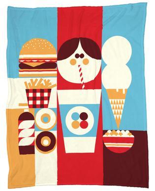 Fun Food Fleece Blanket