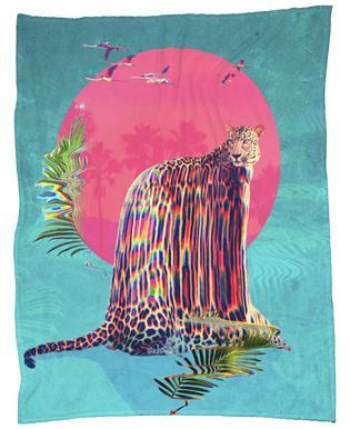 Jaguar Fleecetæppe