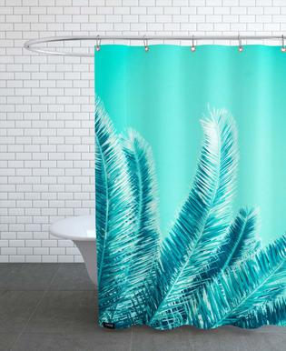 Green Palm Trees As Shower Curtain By Victoria Frost