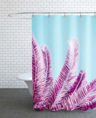 Pink Palm Trees As Shower Curtain By Victoria Frost