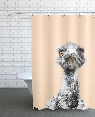 Orange Emu rideau de douche