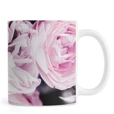 Pink flowers II mug