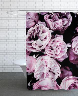 Pink Flowers III rideau de douche