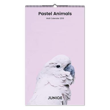 Pastel Animals 2019 Wall Calendar