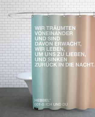 Ich und Du Light 01 Shower Curtain