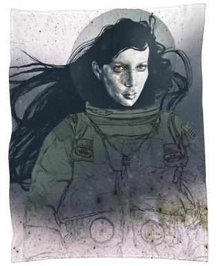 Astronaut 2 Fleece Blanket