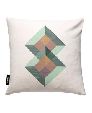 Translucent Geometry Green Cushion Cover