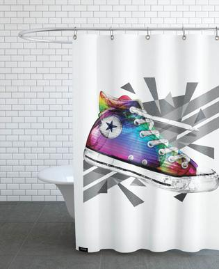 All Star of My Life Rainbow Rideau de douche