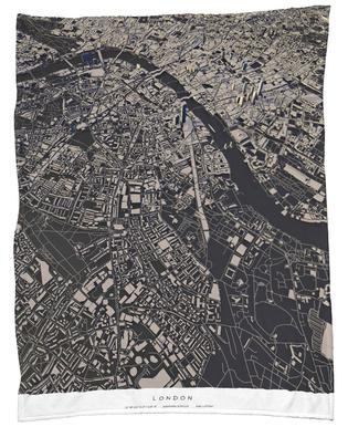 London City Map Plaid