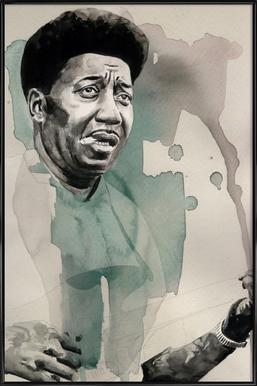 Muddy Waters Affiche sous cadre standard