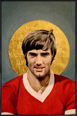 Football Icon - George Best affiche encadrée