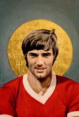 Football Icon - George Best Aluminium Print