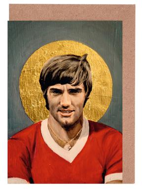 Football Icon - George Best cartes de vœux