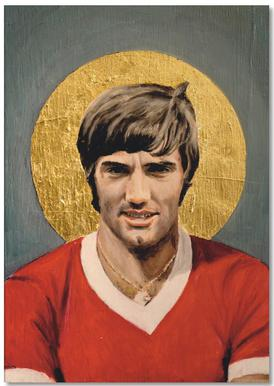Football Icon - George Best Notepad