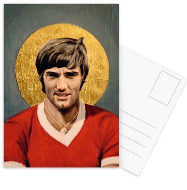 Football Icon - George Best -Postkartenset