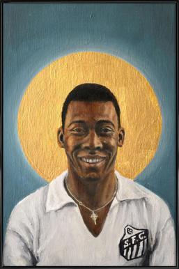 Football Icon - Pelé Poster in Standard Frame