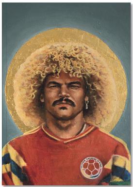 Football Icon - Carlos Valderrama Notizbuch