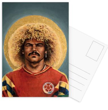 Football Icon - Carlos Valderrama Set de cartes postales