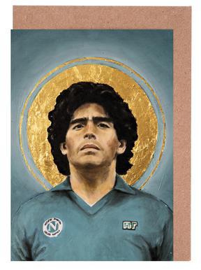 Football Icon - Diego Maradona Grußkartenset