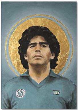 Football Icon - Diego Maradona Bloc-notes