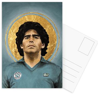 Football Icon - Diego Maradona Set de cartes postales