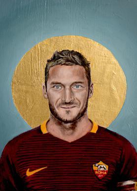 Football Icon - Francesco Totti Canvas print