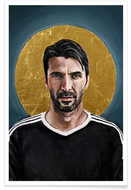 Football Icon - Buffon poster
