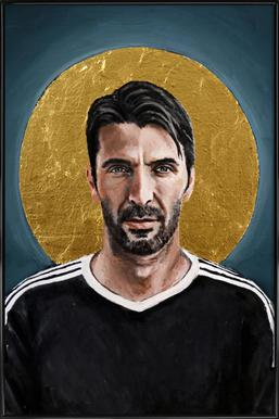Football Icon - Buffon Poster in Standard Frame