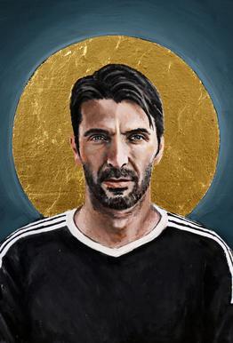 Football Icon - Buffon Aluminium Print