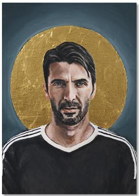 Football Icon - Buffon Notizbuch