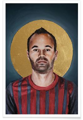 Football Icon - Iniesta Affiche