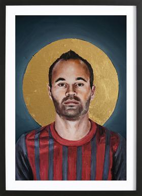 Football Icon - Iniesta Framed Print