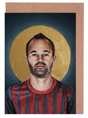 Football Icon - Iniesta Greeting Card Set