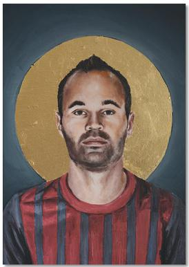Football Icon - Iniesta Notepad