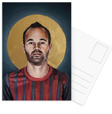 Football Icon - Iniesta Set de cartes postales