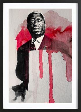 Leadbelly Poster in Wooden Frame