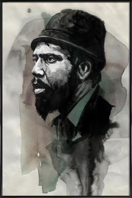 Thelonious Monk -Bild mit Kunststoffrahmen