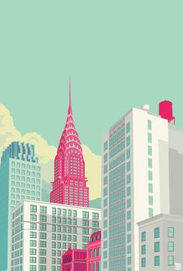 Park Avenue New York City -Acrylglasbild