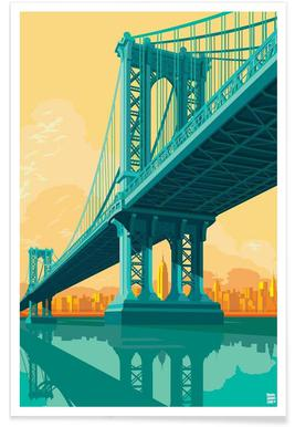 Manhattan Bridge New York City Poster