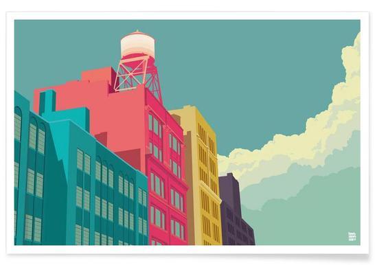 East 10th Street New York City Poster