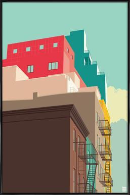 Lower East Side New York City Poster im Kunststoffrahmen