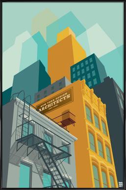 Tribeca New York City Poster im Kunststoffrahmen