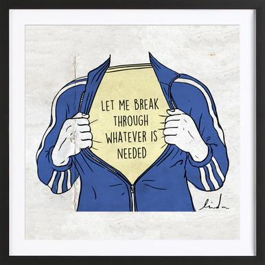 Break Through Framed Print