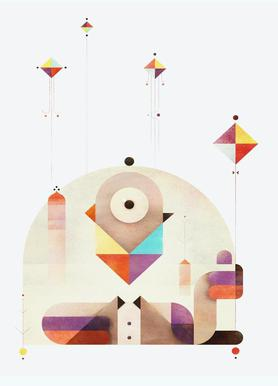 Kite Master Canvas Print