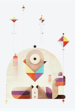 Kite Master Acrylic Glass Print