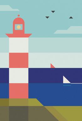 Lighthouse Aluminium Print