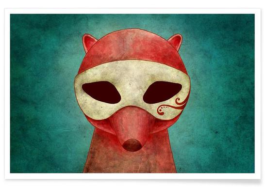 Death As A Fox In A Mask -Poster
