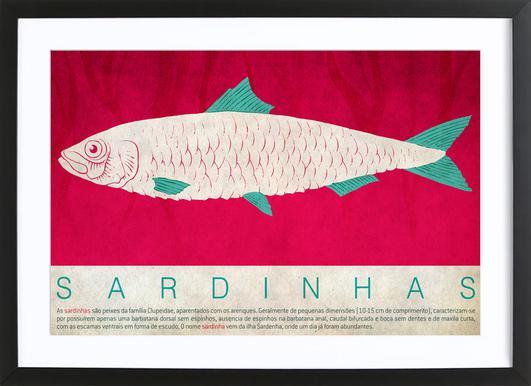 Sardinhas ingelijste print