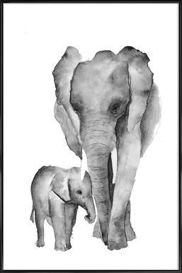 Elephant Mama - Larissa van der Laan - Poster in Standard Frame 0a1f4174824ae